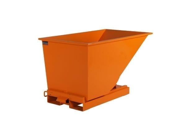 Cityramp Avatud kallutav Tippo konteiner 300L oranž