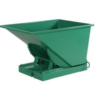 Cityramp Avatud kallutav Tippo konteiner 300L roheline