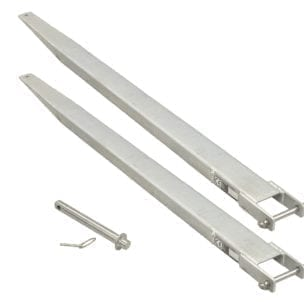 Cityramp Galvanized fork extensions 2000xB100xH40mm
