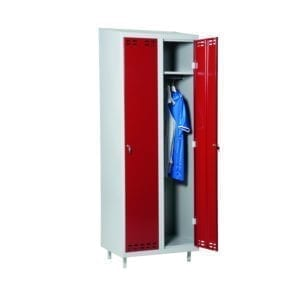 Cityramp Garderoobikapp-riidekapp 2 uksega punane