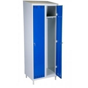 Cityramp Clothing cabinet-locker with 2 doors blue