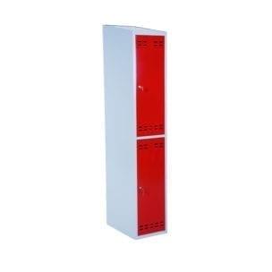 Cityramp Clothing cabinet-locker with 2 doors red
