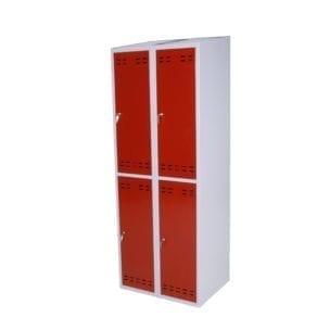 Cityramp garderoobikapp riidekapp 4 uksega väike punane