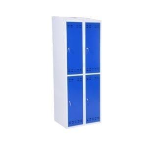 Cityramp garderoobikapp riidekapp 4 uksega väike sinine