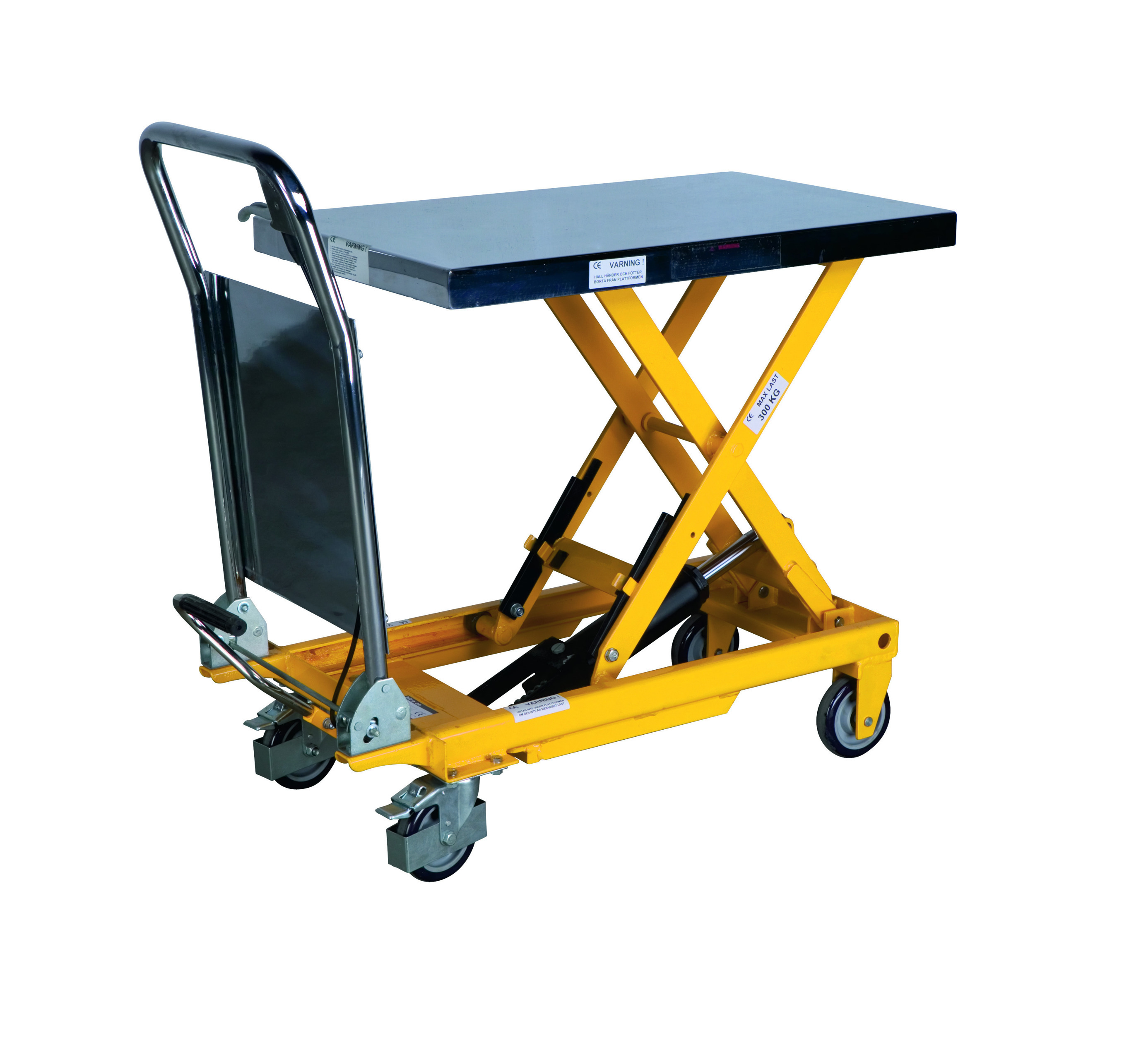 Portabel manual scissor lifting table PL 300 LB