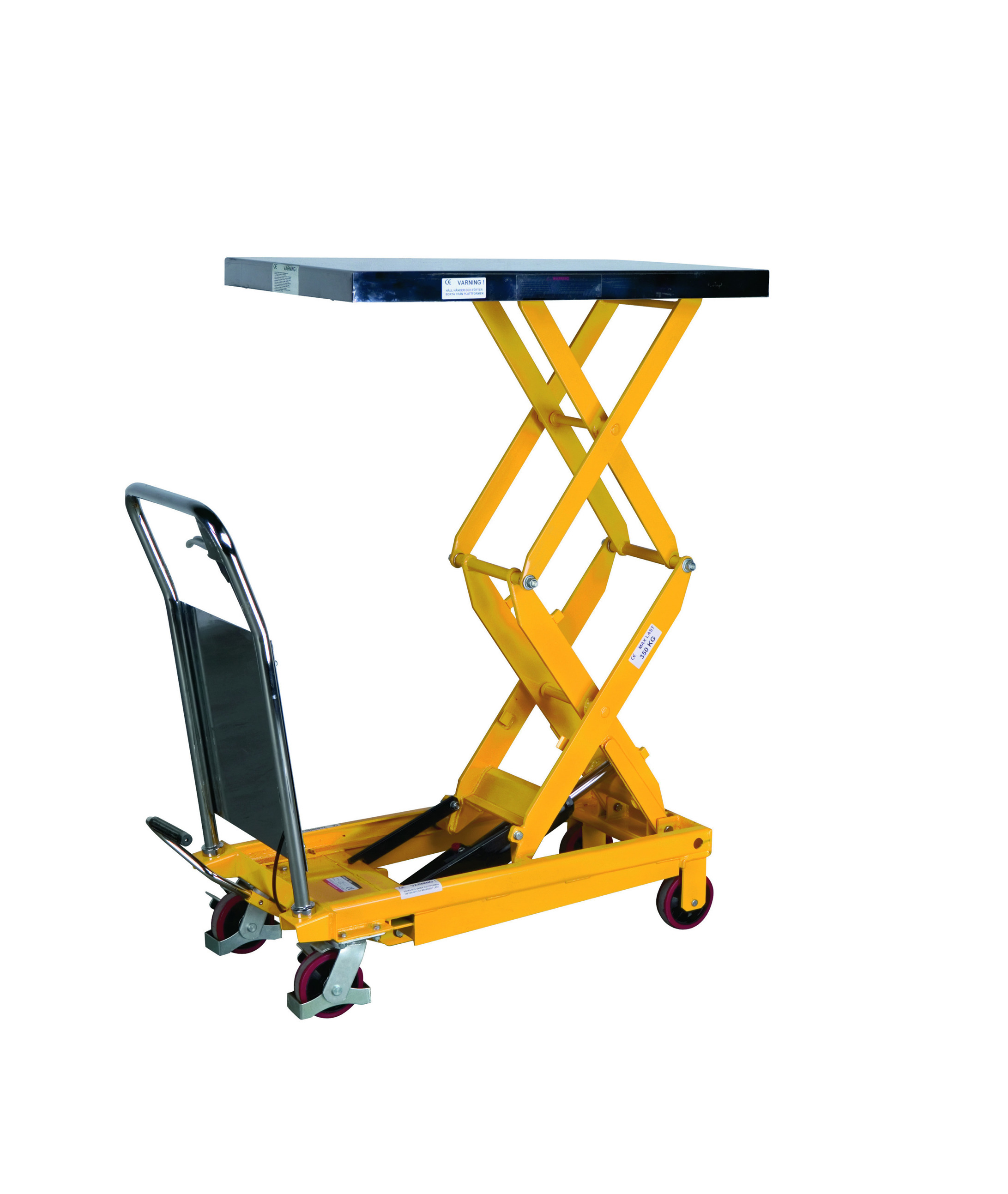 Portabel manual scissor lifting table PL 350 LBD