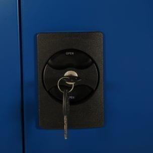 Cityramp laokapp arhiivikapp 2 uksega Economy sinine hall 1800x900x400mm