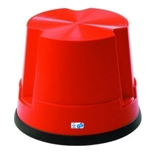 Cityramp plastikust 1 astmeline turvaaste punane