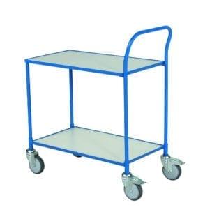 Cityramp Platvormkärud kahe riiuliga 75kg 425x765mm sinine