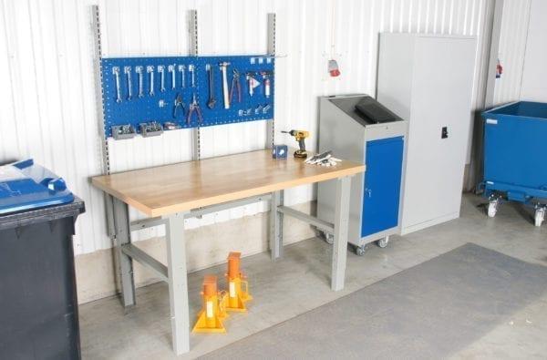 Cityramp tugev töölaud 5 sahtliga õli vinüül pinnaga 1600x800mm