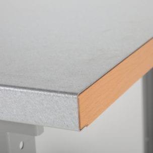 Cityramp tugev töölaud terase pinnaga 1600x800mm