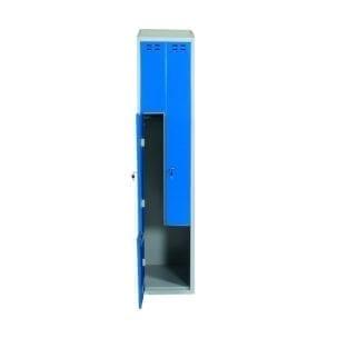 Cityramp Z-ustega garderoobikapp riidekapp 2 uksega sinine