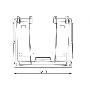 CityRamp - Prügikonteiner - prügikast 1100L tumehall_3